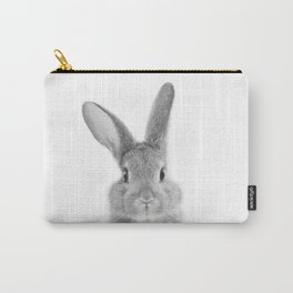 Rabbit Black & White Art Print, by Zouzounio Art Carry-All Pouch
