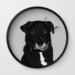 The Dashing Mixed-Breed Dog Wall Clock