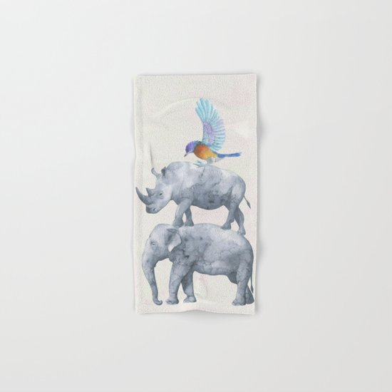 African Wildlife Hand & Bath Towel