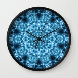 Cosmic Light Storm Mandala Wall Clock