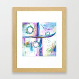 Just the Three of Us, Abstract Art Painting Framed Art Print