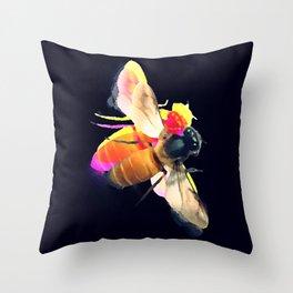 Abeille dark Throw Pillow