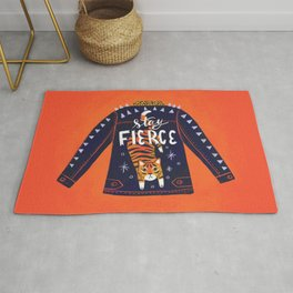 Stay Fierce Tiger Jacket Rug