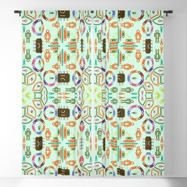 "Seamless pattern in the style of ""printed circuit board"" Blackout Curtain"