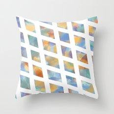 Watercolor Diamonds Throw Pillow