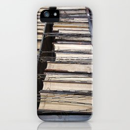 Books in chains iPhone Case