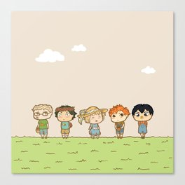Spring! Karasuno 1st Years Canvas Print