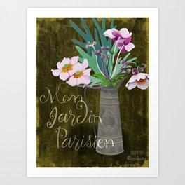 Mon Jardin Parisien Art Print