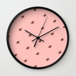 Coolroaches (Pink) Wall Clock