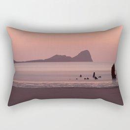 Sunset at Rhossili Bay South Wales Rectangular Pillow