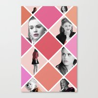 lydia martin Canvas Prints featuring Lydia Martin - Teen Wolf by lena e