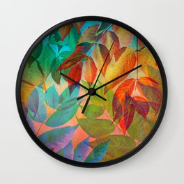 Autumn Lights and Colors Wall Clock