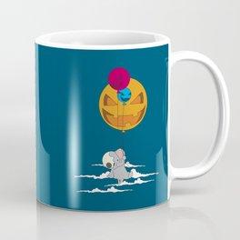 Elephant up in the sky with pumpkins Coffee Mug