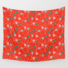 Holiday Pom-Poms Wall Tapestry