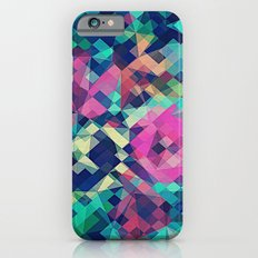 Fruity Rose - Fancy Colorful Abstraction Pattern Design (green pink blue) Slim Case iPhone 6s