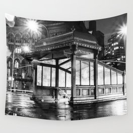New York City Subway Entrance Wall Tapestry