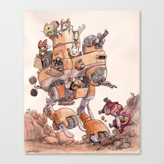 The Big Bad Mega Mech Canvas Print