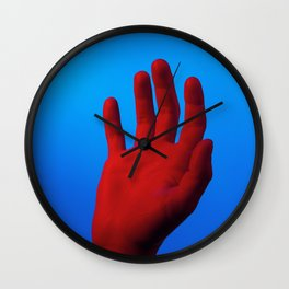 Red Hand Wall Clock