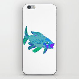Blue Green Koi 4 iPhone Skin