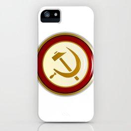 Russian Pin Badge iPhone Case