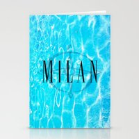 milan Stationery Cards featuring Milan by Liz Guhl @lizaguhl