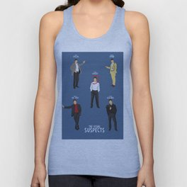 The Usual Suspects, Kevin Spacey, minimalist movie poster, Gabriel Byrne, Singer, Benicio Del Toro, Unisex Tank Top