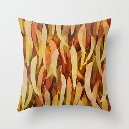 Gum Leaf Dreaming Throw Pillow