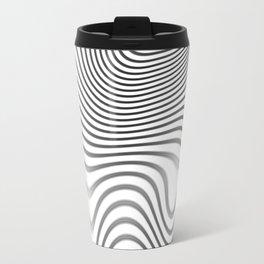 Organic Abstract 02 WHITE Travel Mug