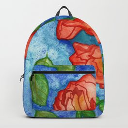Peachy Colored Roses Backpack
