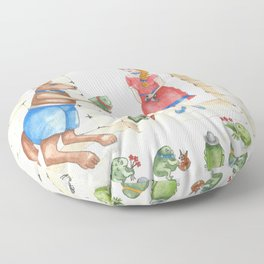 To meet your handsome prince..you need to kiss a lot of toads Floor Pillow
