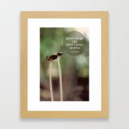 Our Growth Framed Art Print
