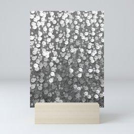Silver Grey Sequin Glitter | Nadia Bonello Mini Art Print