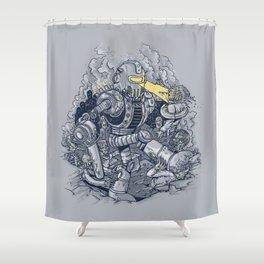 Zombie Exterminator Shower Curtain