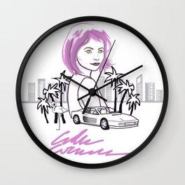 Ferraris and Flamingos Wall Clock