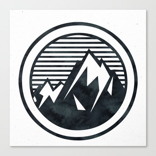 THE MOUNTAIN Black and White Canvas Print