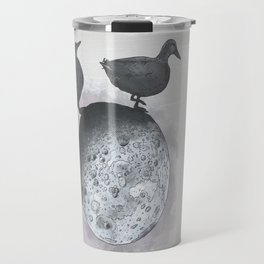 the duck side of the moon Travel Mug