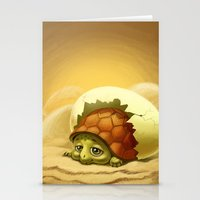 turtle Stationery Cards featuring turtle by Antracit