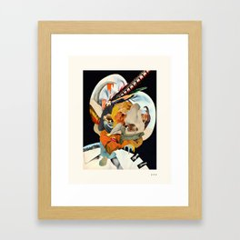 HOLLYWOODLAND 4 Framed Art Print