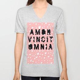 Amor Vincit Omnia • Love Conquers All Unisex V-Neck