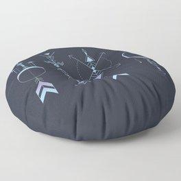 Geometric Arrows - Native American Sioux Floor Pillow