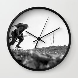 Battle Of Okinawa Painting Wall Clock