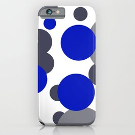 Bubbles blue grey- white design iPhone Case