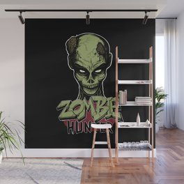 Zombie hunter Wall Mural