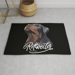 I Love my Rottweiler, for big dogs owners. Rug