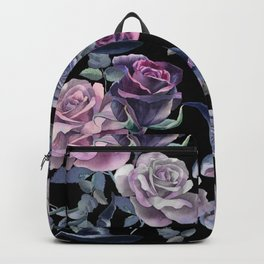 Dark flowers Backpack