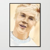 niall Canvas Prints featuring Niall by Sayrise