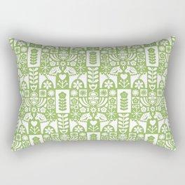 Swedish Folk Art - Greenery Rectangular Pillow