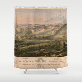 Gettysburg Battlefield July 1st, 2nd, 3rd 1863 Shower Curtain