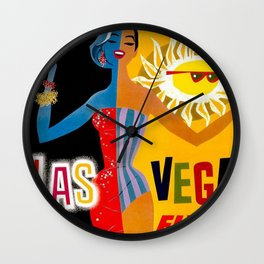 Lady Las Vegas Wall Clock