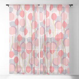 Botanical party Sheer Curtain